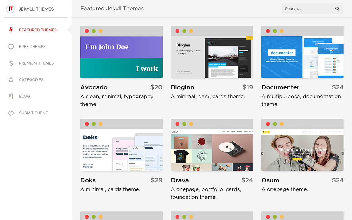 Jekyll Themes - New Layout!