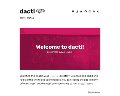 dactl Jekyll Theme & Template