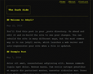dark-side Jekyll Theme & Template