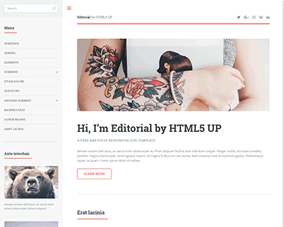 editorial-jekyll-theme Jekyll Themes & Templates