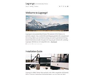 Lagrange Jekyll Themes & Templates