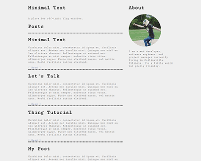 Minimal-Text Jekyll Themes & Templates