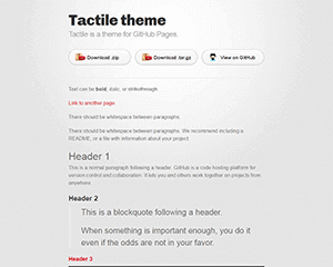 tactile Jekyll Themes & Templates