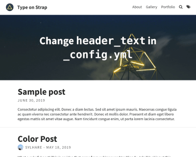 type-on-strap Jekyll Themes & Templates