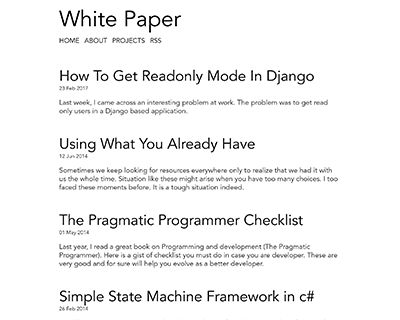 white-paper Jekyll Theme & Template